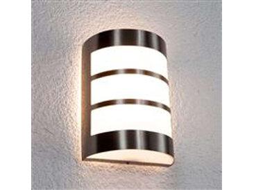 Lampe d'extérieur semi-circulaire moderne en acier inoxydable IP44 - Kristian
