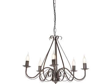 Lustre classique brun rouille 5 lumières - Giuseppe 5