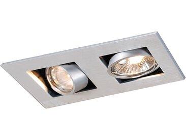 Spot encastrable rectangulaire en aluminium à 2 lumières - Qure