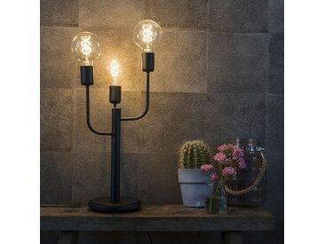 Lampe de table Art Déco noir 3 lumières - Facile