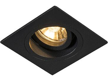 Spot encastrable moderne noir 9,3 cm orientable et inclinable - Chuck
