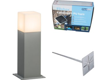 Lampe d'extérieur 30 cm grise avec tige de terre et manchon de câble - Danemark