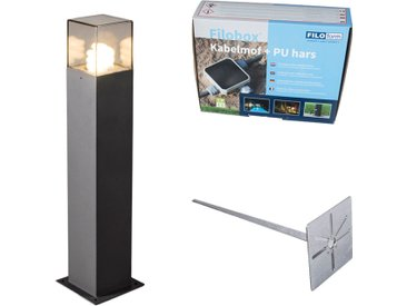 Lampe d'extérieur 70 cm anthracite avec épingle de terre et manchon de câble - Danemark