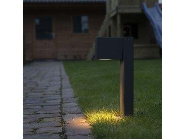 Lampe d'extérieur sur pied industrielle anthracite 30 cm IP44 - Baleno
