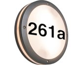 Applique d'extérieur anthracite avec numéro de maison IP54 - Glow