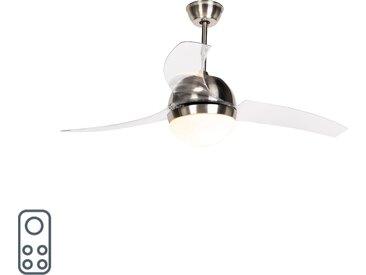 Ventilateur de plafond en acier avec télécommande - Bora 52