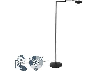 Lampe de lecture pivotante moderne noire LED et variateur - Kazam
