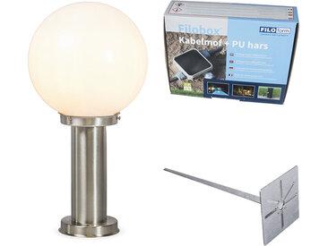 Lampe d'extérieur acier inox 50 cm - Sfera avec broche de masse et gaine de câble