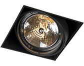 Spot encastré noir AR111 rotatif et inclinable sans trim - Oneon