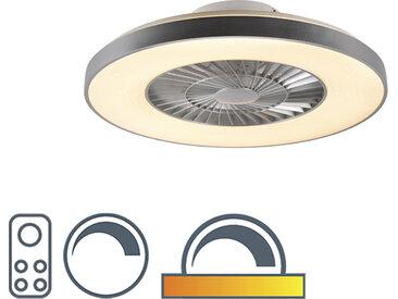 Ventilateur de plafond argent avec effet étoile dimmable - Climo