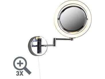 Interrupteur à cordon de traction chromé pour miroir de maquillage rond x3 - Vicino