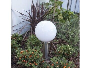 Lampe d'extérieur moderne poteau acier inox 50 cm - Sfera