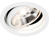 Spot encastrable moderne blanc réglable - Chuck 111