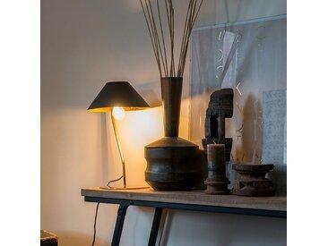 Lampe de table Art Déco noire avec intérieur doré - Knick