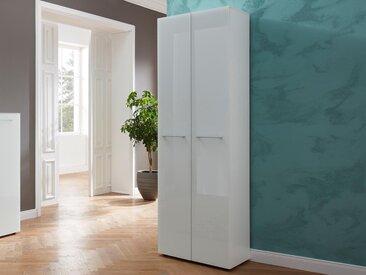 Armoire SCHALKE 2 portes blanc brillant
