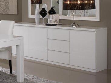 Buffet/bahut ROMEO 3 portes et 3 tiroirs blanc laque