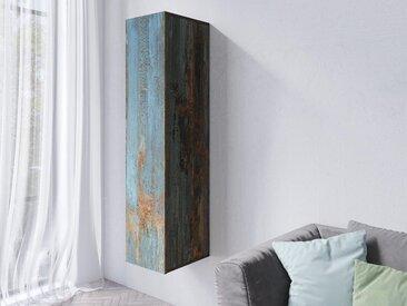 Armoire murale verticale VENATO 1 porte canyon effet métal