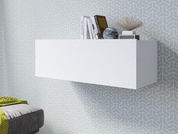 Armoire murale horizontale VENATO 1 porte blanc mat