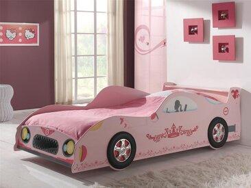 Lit MONZA Princesse 90x200 cm rose