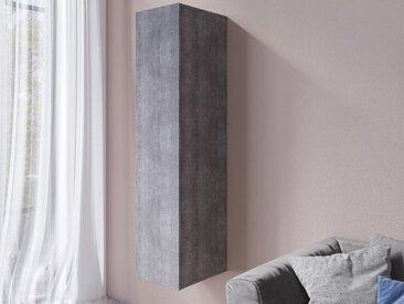 Armoire murale verticale VENATO 1 porte béton