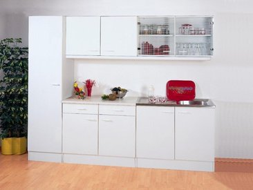 Bloc cuisine SOLENE blanc 250 cm