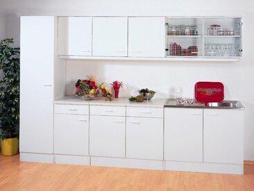 Bloc cuisine SOLENE blanc 300 cm