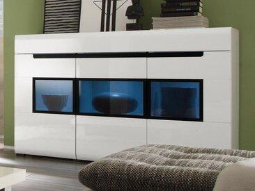 Buffet/bahut HERCULE 3 portes et 1 tiroir blanc sans led