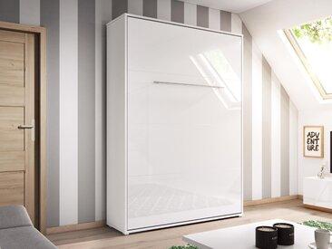 Lit mural escamotable CONCEPTION 140x200 cm blanc mat (vertical)