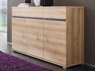 Buffet/bahut LIVINGSTONE 3 portes 3 tiroirs chêne noble