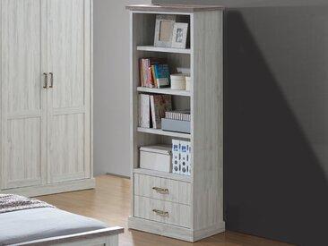 Bibliothèque ELANO 2 tiroirs chêne clair/sonoma