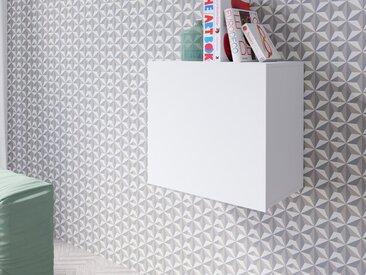 Armoire murale carré VENATO 1 porte blanc mat