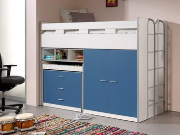 Lit combiné BONNY VI 90x200 cm bleu