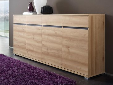 Buffet/bahut LIVINGSTONE 4 portes 4 tiroirs chêne noble