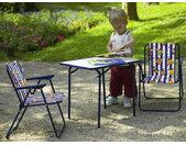 Chaises de camping pour enfants avec table KIDDO bleu