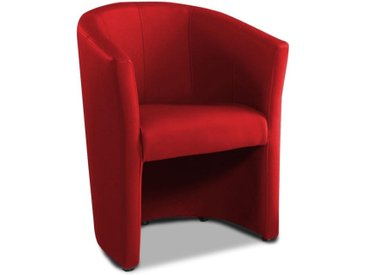 Fauteuil cabriolet moderne TANNA eco-cuir rouge