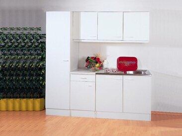 Bloc cuisine SOLENE blanc 200 cm