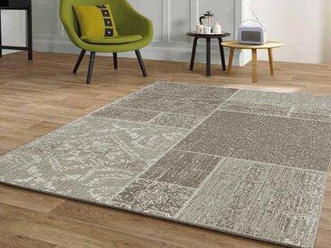 Tapis patchwork START 160x230 cm brun