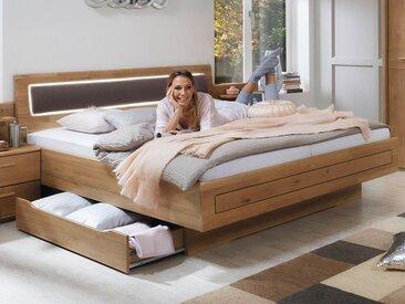 Lit confort CANTONA 180x200 cm chêne sauvage sans éclairage avec tiroirs