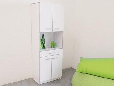 Armoire CITIZEN 4 portes et 1 tiroir blanc
