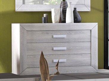 Commode LUMINO 3 tiroirs chêne grisé