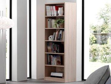 Bibliothèque ESPACITO 5 niches chêne sonoma (largeur: 72 cm)