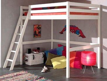 Lit mezzanine ALIZE II 140x200 cm pin blanc