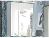 Armoire de toilette PESTO 3 portes blanc/chêne navarra