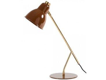 Lampe de bureau brune