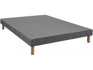 Sommier tapissier déco gris ECO 13 cm 80x200