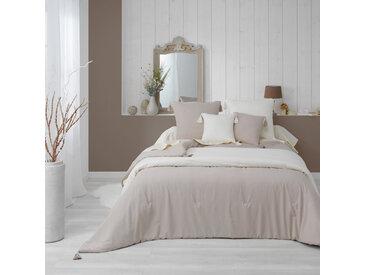 Couvre-lit matelassé à pompons Dune lin 240x220 cm