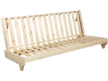 Banquette futon fresh en bois naturel 140x200