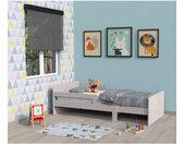 Lit enfant évolutif en bois gris - LT14001