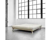 Lit futon senza en bois massif naturel 160x200 cm