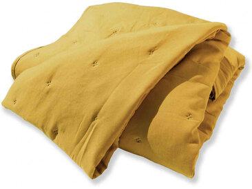 Jeté de lit matelassé Eve moutarde 260x240 cm
